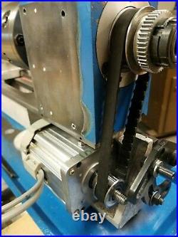 Mini Metal Lathe 1 hp 750 watt Mophorn Vevor Motor Kit Belt Pulleys Mount gear