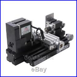 Mini Metal Lathe 36W Woodworking Aluminum DIY Tooling ModelMaking Student Hobby