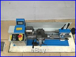 Mini Metal Lathe 500W Variable Speed Jade Screw Steel Processing 7x14 Bench Top