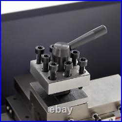 Mini Metal Lathe 7 x 14 3/4HP 550W Digital Display Metal Gear Variable Speed