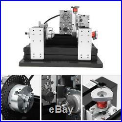 Mini Metal Lathe DIY Micro Milling Machine High Power Millier 12000rpm 60W