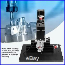 Mini Metal Lathe DIY Miniature Milling Machine Miller 60W 12000RPM Mesa