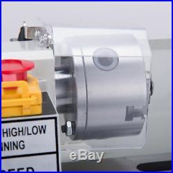 Mini Metal Lathe Machine 0-2500 RPM High Precision