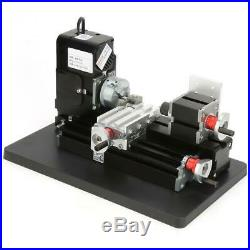 Mini Metal Lathe Machine 24W Woodworking DIY Tool Modelmaking Craft 20000RPM