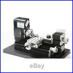 Mini Metal Lathe Metalworking Woodworking DIY Model Making 24W 20000rpm