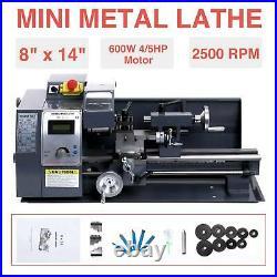 Mini Metal Lathe Metalworking Woodworking Metal Gears Bench Metalworking 8x14