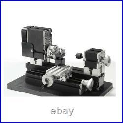 Mini Metal Lathe Soft Metalworking Woodworking DIY Model Making 60W 12000rpm new