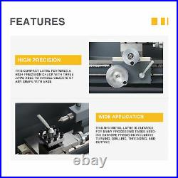 Mini Metal Lathe for Turning Cutting Drilling Threading 1100W 8x16 2250rpm
