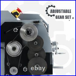 Mini Metal Lathe w 600W Brushed Motor 4 3-Jaw Chuck & More 8x14 Inch 2500rpm