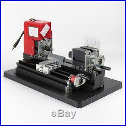 Mini Metal Motorized Lathe Machine Power Tool DIY Model Making Woodworking 24W
