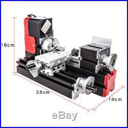 Mini Metel Lathe DIY Tool Metal Motorized Machine Educational Tools US STOCK