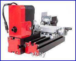 Mini Miniature Multifunction DIY CNC Metal Motorized Lathe Machine 20000r/min US