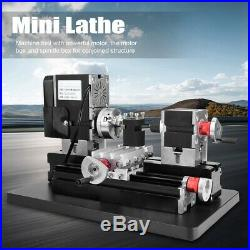 Mini Motorized Lathe Machine DIY Tool Metal Woodworking For Hobby Modelmaking xi