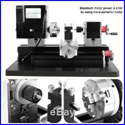 Mini Motorized Lathe Machine DIY Tool Metal Woodworking For Hobby Modelmaking xi