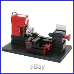 Mini Motorized Lathe Machine DIY Tool Metal Woodworking Hobby Modelmaking
