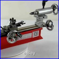 Mini Motorized Lathe Machine DIY Tool Wood Metal Al Manufacturing Meltalworking