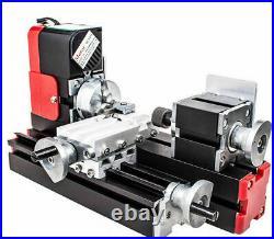 Mini Mtetal Lathe 20000rpm Powerful Motor 24W DIY Tool Metal Woodworking Machine
