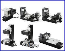 Mini Multipurpose Metal Material Machine 6 In 1 DIY Tool Wood Lathe Modelmaking