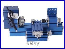Mini Turning Lathe Machine Motorized Metalworking DIY Tool Universal Soft Metal