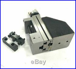 Mini Vertical Slide with 2/50mm Steel Vice-Instant Milling on Small Bench Lathe
