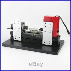 Mini Wood Lathe Motorized Machine DIY Tool Metal Woodworking Engraving Simple US