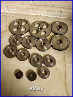 Mini metal Lathe steel changewheel gears 20 80 teeth set of 14 gears total