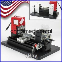 Motorized Mini Metal Lathe Machine Turning Woodworking DIY Tool Crafts USA SHIP