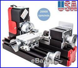 Multifunction DC12V 24W DIY Miniature CNC Metal Mini Lathe Machine 20000Rev/min