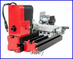 Multifunction DIY Woodworking Mini Lathe DC 12V Miniature Manual Metal Machine
