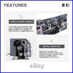New 8.7x 23.6 Mini Metal Lathe1100W Metal Gear Brushless Motor 5 Turning Tools
