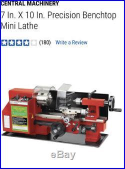 Precision 7x10 Mini Lathe By Central Machinery