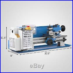 Precision Mini Metal Lathe Metalworking DIY Processing Variable Speed 7x14
