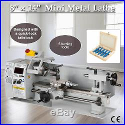 Precision Mini Metal Lathe Metalworking DIY Processing Variable Speed 8x 14