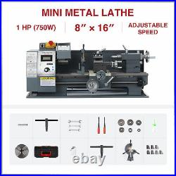 Preenex 2250rpm 8x16 Mini Metal Lathe Benchtop Woodworking Equipment 750W Motor