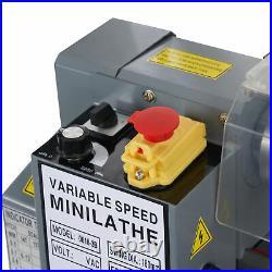 Preenex 550W 2250rpm Mini Metal Lathe for Turning Cutting Drilling and Threading