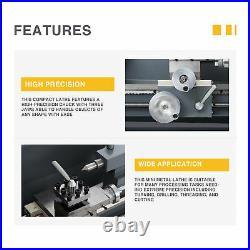 Preenex Benchtop Mini Lathe Machine 1100W Motor 3-Jaw Chuck & More 8x16 2250rpm