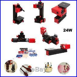 Ridgeyard 6in1 DIY Mini Wood Metal Motorized Lathe Machine Woodworking Drilling