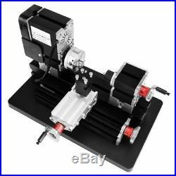 TZ20002MGP High Power Mini Metal Lathe Metalworking Woodworking DIY Model 60W