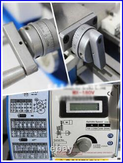 Techtongda 7x12 Precision Mini Metal Lathe Inch Thread Bench Lathe 110V