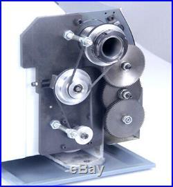 Techtongda Precision Mini Metal Lathe Multifunctional DIY Bench Lathe 110V
