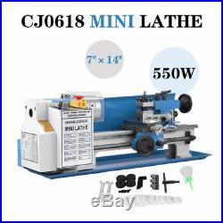 Turning CJ18A Milling Metal Digital Mini Lathe Package 7x14 Accessory Blue