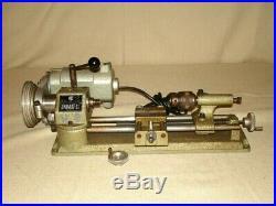 UNIMAT-SL DB200 MINI LATHE Jeweler/Gunsmith/Woodworking Org Wood Case TESTED VGC