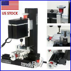 US 12000rpm 60W High Power Metal Mini Lathe DIY Micro Milling Machine Millier