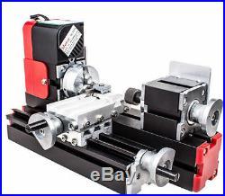 US 20000r/min Miniature Multifunction DIY CNC Metal Motorized Mini Lathe Machine