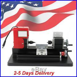 US Wood Mini Lathe DIY Micro Milling Machine High Power Millier 20000rpm/min 24W