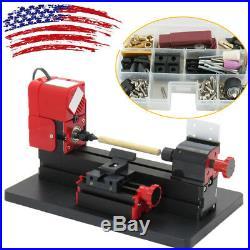 USAMini 6in1 Wood Metal Motorized Lathe Jig-Saw Machine Wood DIY Device Tool A