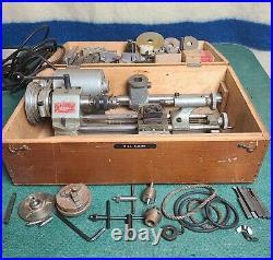 Unimat DB200 Mini Lathe Cast Iron Original Made In Austria 1960 Extra Parts Runs