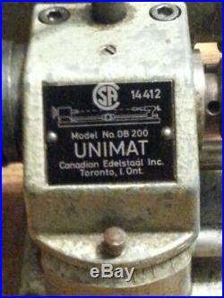 Unimat Db 200 Mini Lathe Clockmakers / Gunsmiths / Hobbyists/ Woodworking