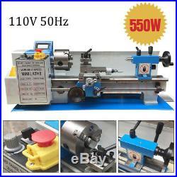 Upgrade 550W Mini Metal Lathe 7x12 BenchTop Metalworking Metric/Inch Gear 110V