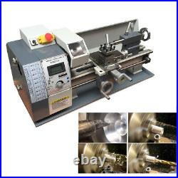 Upgrade 750W Mini Metal Lathe Machine Metric / inch Gear 220V 8 X 16 Metalwork